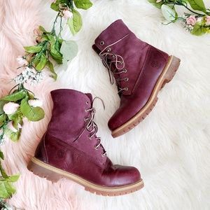 Timberland Earthkeepers Burgundy Boots